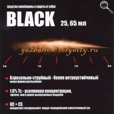 """Аэрозольно-струйный газовый баллончик """"Black"""" 25 мл."""